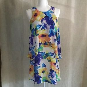 Philosophy Floral Layered Shift Dress